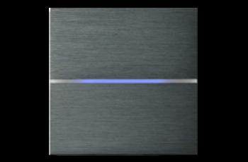 2-х зонный сенсорный выключатель Basalte Sentido с подсветкой