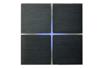 4-х зонный сенсорный выключатель Basalte Sentido с подсветкой