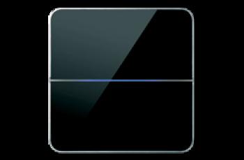 2-х зонный сенсорный выключатель Basalte Enzo с подсветкой